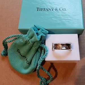 Tiffany & Co 1837 T & CO Sterling Silver Ring Band